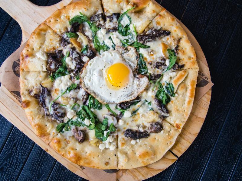 Wild Mushroom & Goat Cheese Pizza