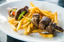 Hanger Steak Kabobs & Fries