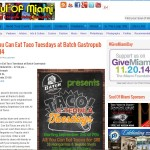 Soul of Miami - All You Can Eat Taco Tuesdays at Batch Gastropub