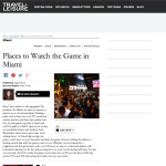 Travel and Leisure - Places To Watch the Game in Miami